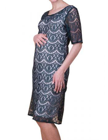 Ажурное платье для беременных № 450-3 (изумруд)