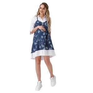 Джинсовое платье для беременных № 1908/1085